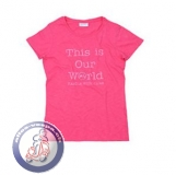 Vespa T-Shirt This is Our World, pink, Damen, verschiedene Grössen
